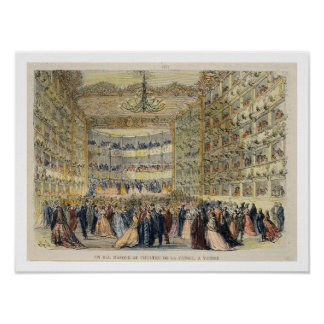 A Masked Ball at the Fenice Theatre Venice 19th Poster
