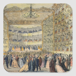 A Masked Ball at the Fenice Theatre, Venice, 19th Square Sticker
