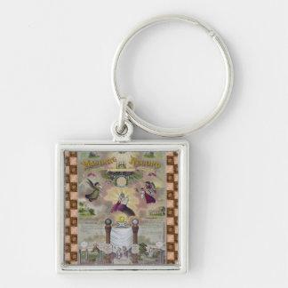 A Masonic Record Silver-Colored Square Keychain