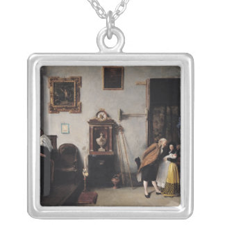A Mass in Spain Square Pendant Necklace