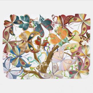 A Mass of Butterflies in a Tree 1 - Baby Blanket