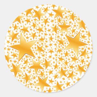 A Massive Amount of Gold Stars Classic Round Sticker