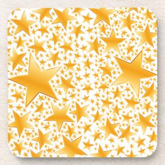 A Massive Amount of Gold Stars Coaster