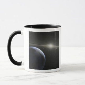 A massive asteroid belt in orbit around a star mug