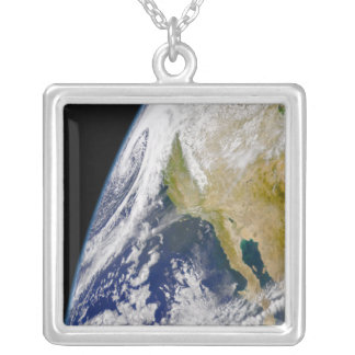 A massive low pressure system silver plated necklace