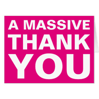 A Massive Thank You Oversized Greeting Card