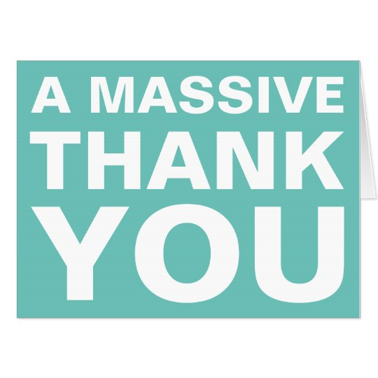 A massive thank you oversized greeting card zazzle a massive thank you oversized greeting card m4hsunfo