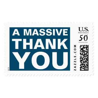 A Massive Thank You Postage Stamp