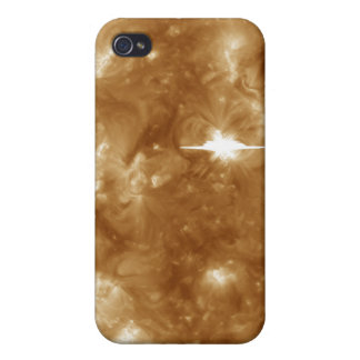 A massive X-class solar flare erupts on the Sun iPhone 4/4S Cover