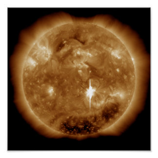 A massive X-class solar flare erupts on the Sun Poster