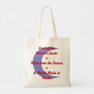 A Match Made in Fanfic Sess/Kag w/Crescent Tote Bag