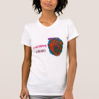 A material hippie RK heart T-Shirt