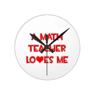 A Math Teacher Loves Me Wall Clock