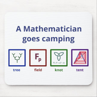 A Mathematician goes camping Mouse Pad