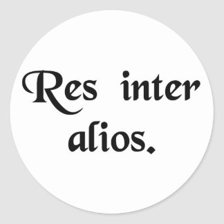 A matter between others. classic round sticker