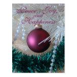 a Mauve Christmas Ornament customize it Postcard