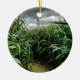 A maze of maize Double-Sided ceramic round christmas ornament