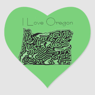 A-Mazing Fifty States Mazes Products Heart Sticker