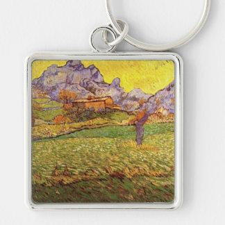 A Meadow In The Mountains Le Mas De St. Paul Keychain