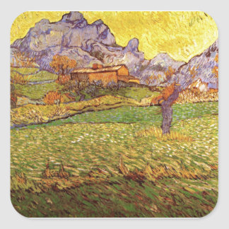 A Meadow In The Mountains Le Mas De St. Paul Square Stickers