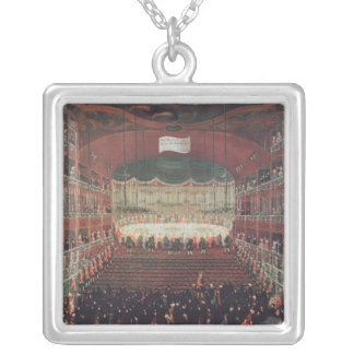 A Meal at the San Benedetto Theatre Silver Plated Necklace