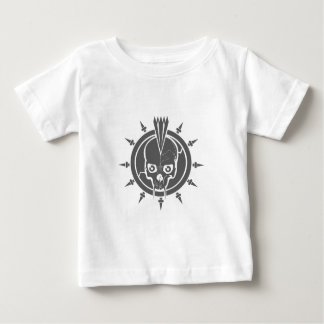 A mean punk rock, goth, vampire skull with spikes baby T-Shirt