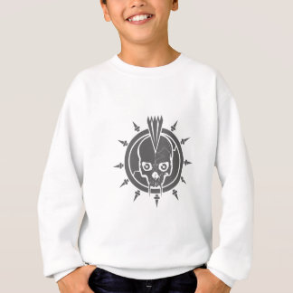 A mean punk rock, goth, vampire skull with spikes sweatshirt