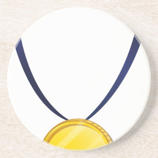 A medal beverage coasters