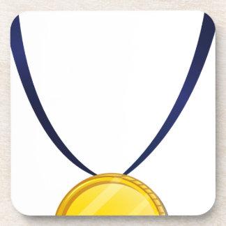 A medal drink coaster