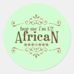 A medias africano etiqueta redonda