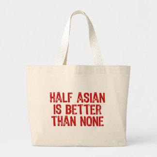A medias asiático bolsa lienzo
