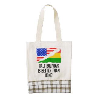 A medias boliviano es mejor que ninguno bolsa tote zazzle HEART
