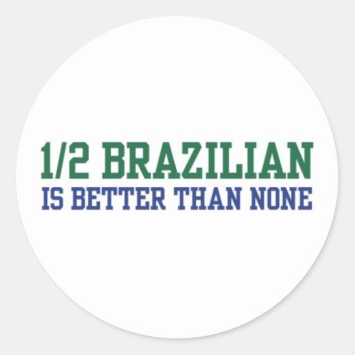 A medias brasileño pegatinas redondas