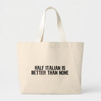 A medias italiano bolsa tela grande