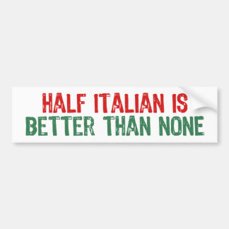 A medias italiano pegatina para auto