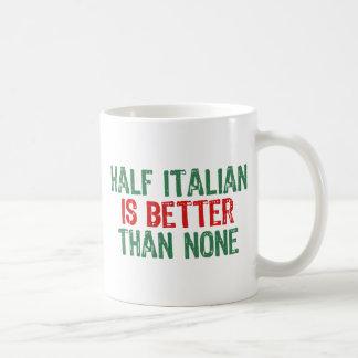 A medias italiano tazas de café