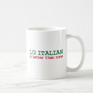 A medias italiano taza de café