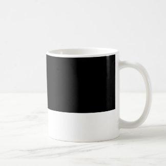 A medias negro tazas de café