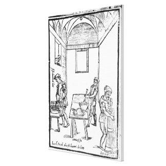 A Medieval Kitchen Canvas Print