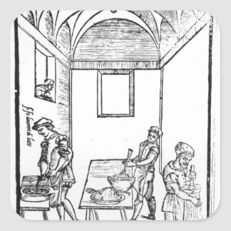 A Medieval Kitchen Square Sticker