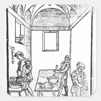 A Medieval Kitchen Square Sticker