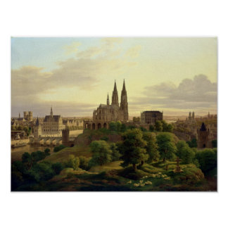 A Medieval Town in 1830, 1830 Poster