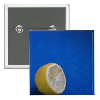 A Mediterranean Lemon Pinback Button