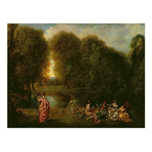 A Meeting in a Park Postcard