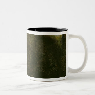 A Meeting in a Park Two-Tone Coffee Mug