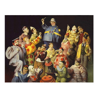 A MEETING OF CLOWNS Office Humor Circus Act 3 ring Post Card