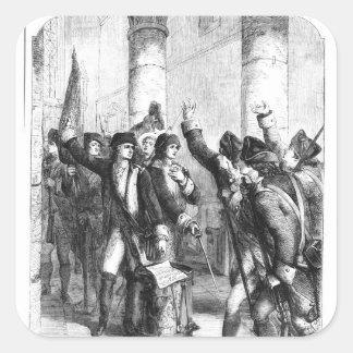 A Meeting of the Irish Volunteers Square Sticker