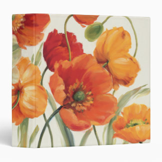 A Melody of Poppies 3 Ring Binder