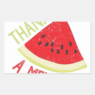 A Melon Rectangular Sticker