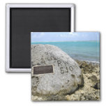 A memorial to prisoners of war on Wake Island 2 Inch Square Magnet